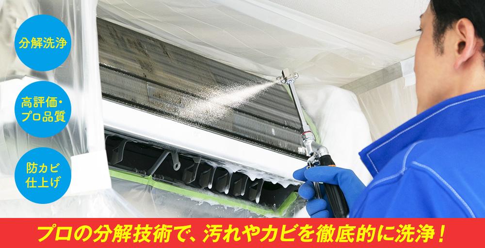 プロの分解技術で、汚れやカビを徹底的に洗浄!