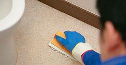 床を洗浄してサービス完了です。